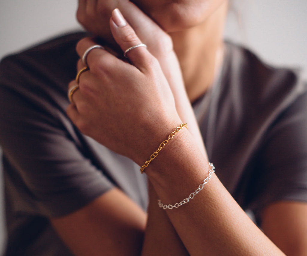Gold Chain Link Bracelet Maya Magal London