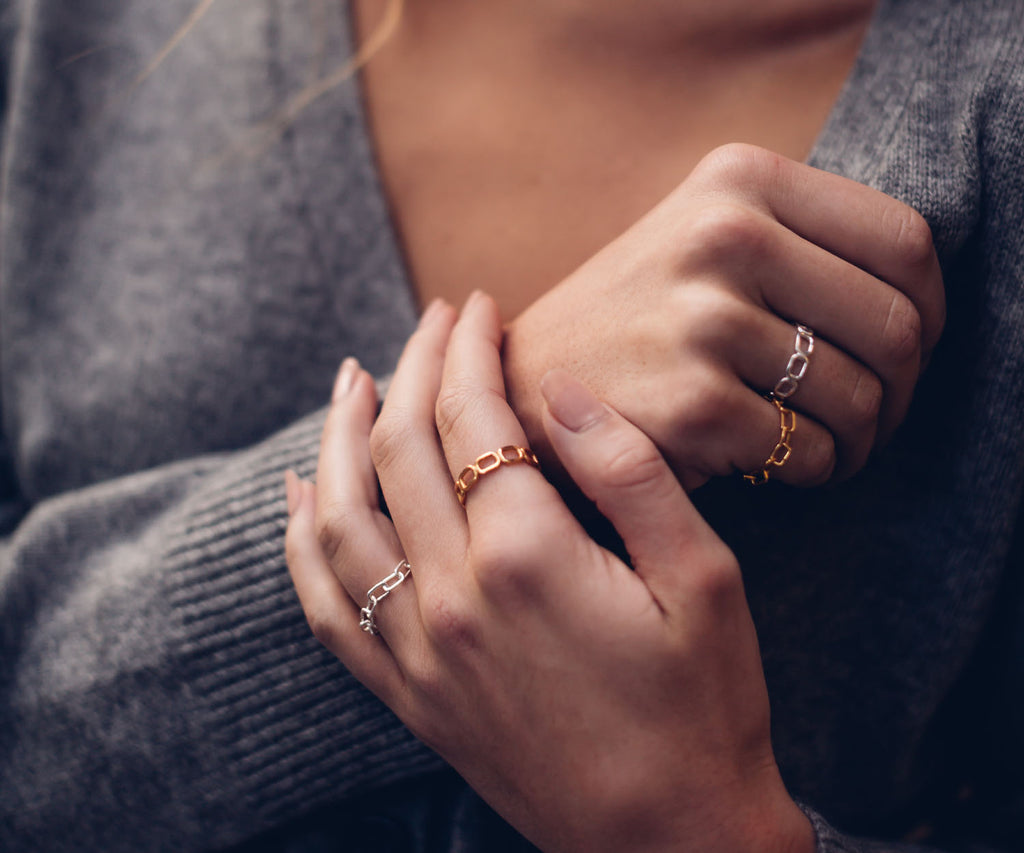 Gold Chain Link Ring Maya Magal London