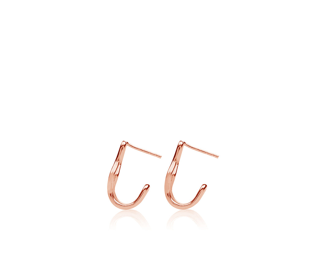 Double V Hoop Earring