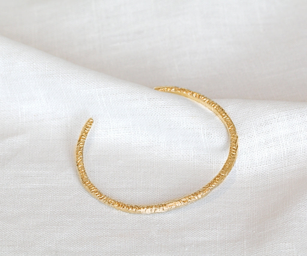 etched bangle bracelet gold plated sterling silver handmade in london by maya magal jewellery uketched bangle bracelet gold plated sterling silver handmade in london by maya magal jewellery uk
