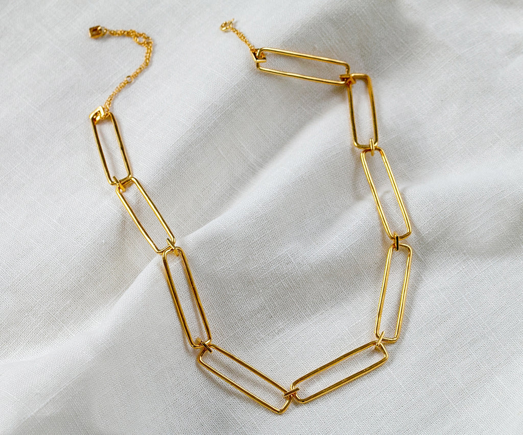 gold chain necklace link maya magal uk london luxury jewellery brand 18ct gold plated sterling silver