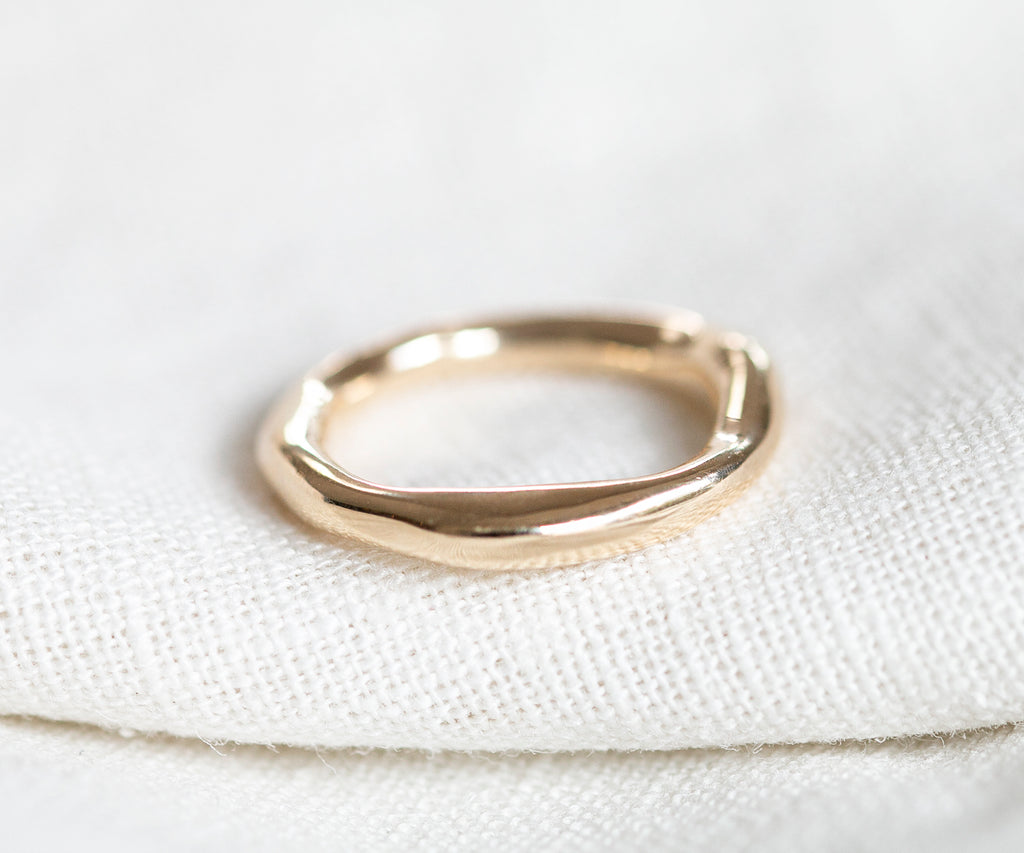 Solid Gold Organic Heavy Ring