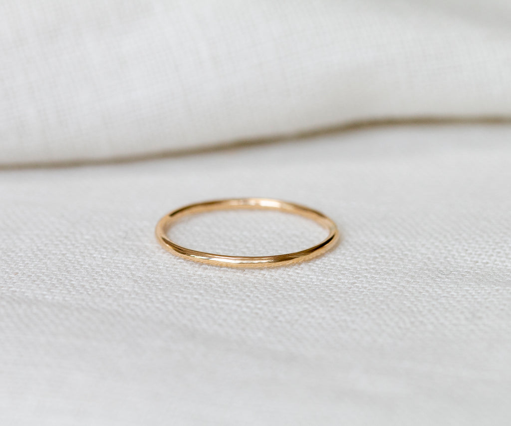 Solid Gold Thin Band