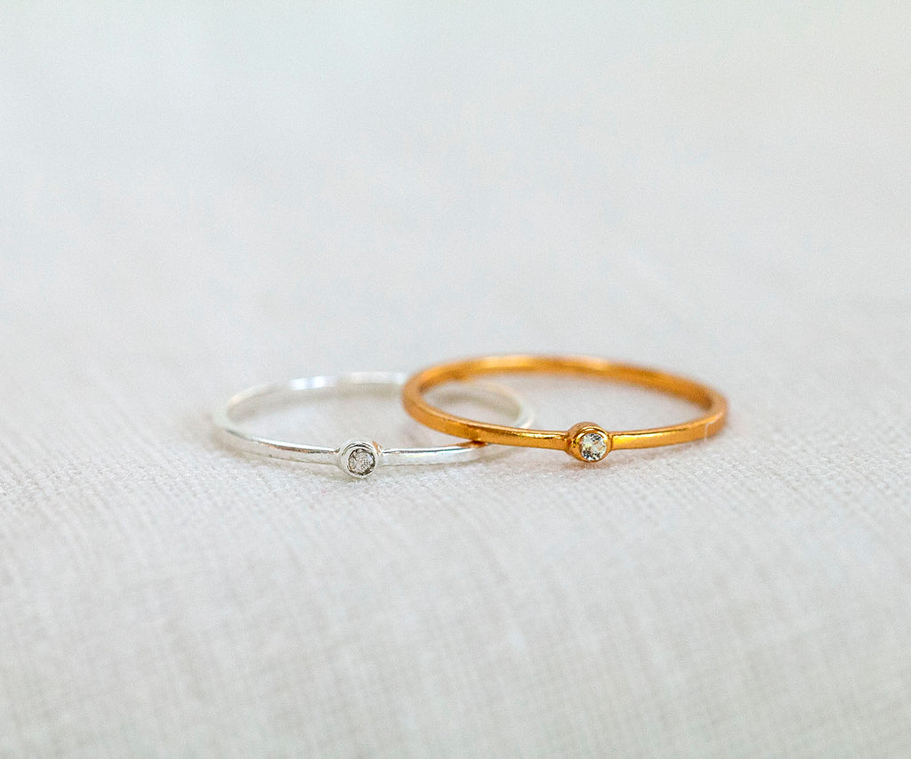 Mini Spotlight Stacking Ring