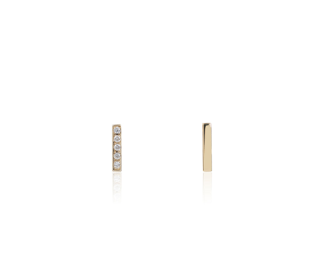 Solid Gold Diamond Dash Studs