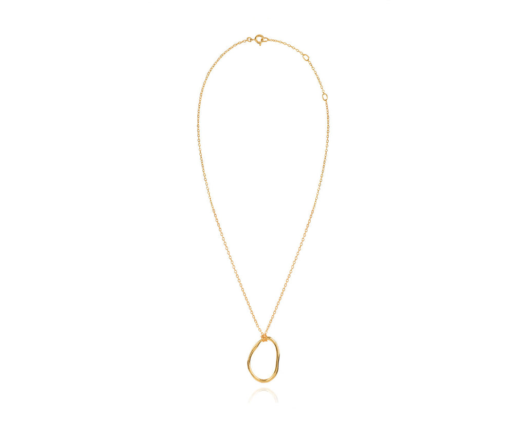 Simple Organic Chain Link Pendant Gold Maya Magal London