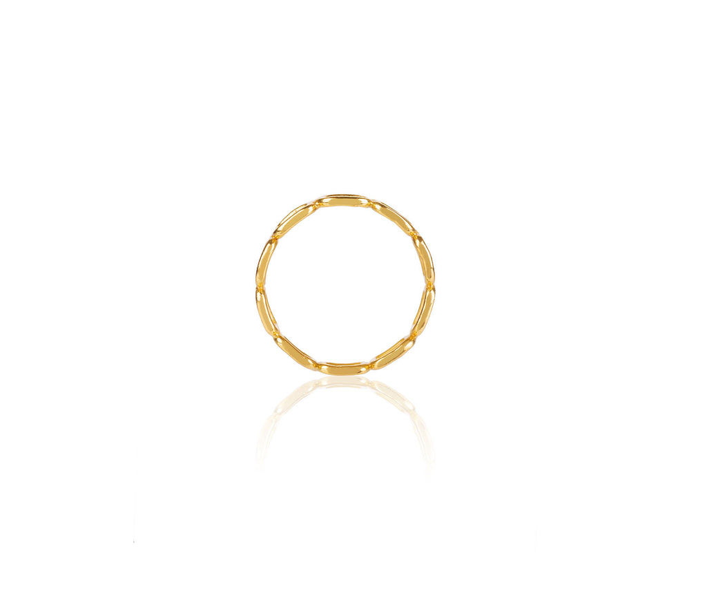 Mini Chain Link Stacking Ring Gold Maya Magal London