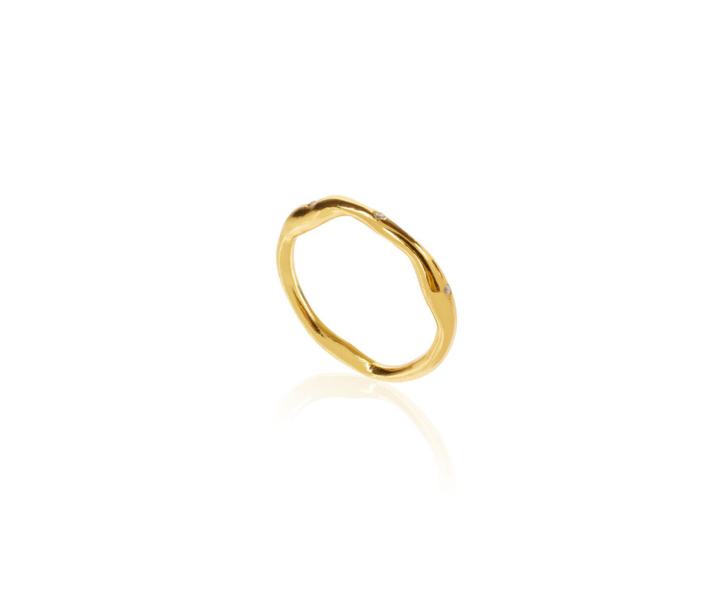 Organic Eternity Link Band Gold Maya Magal London