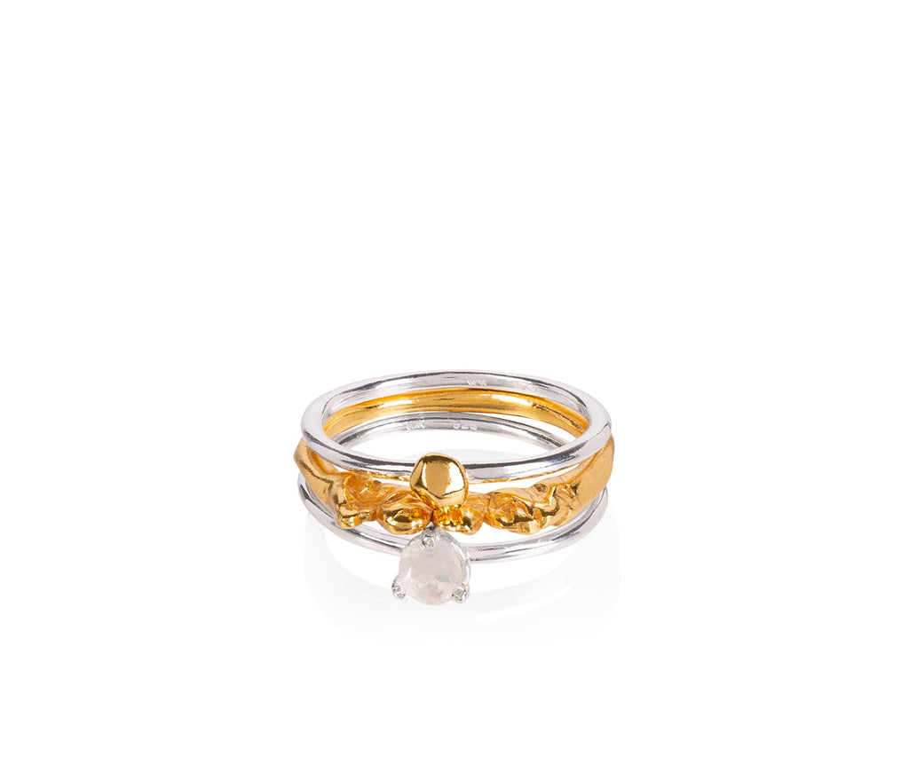 Leanne Stacking Rings - Anthropologie Collection