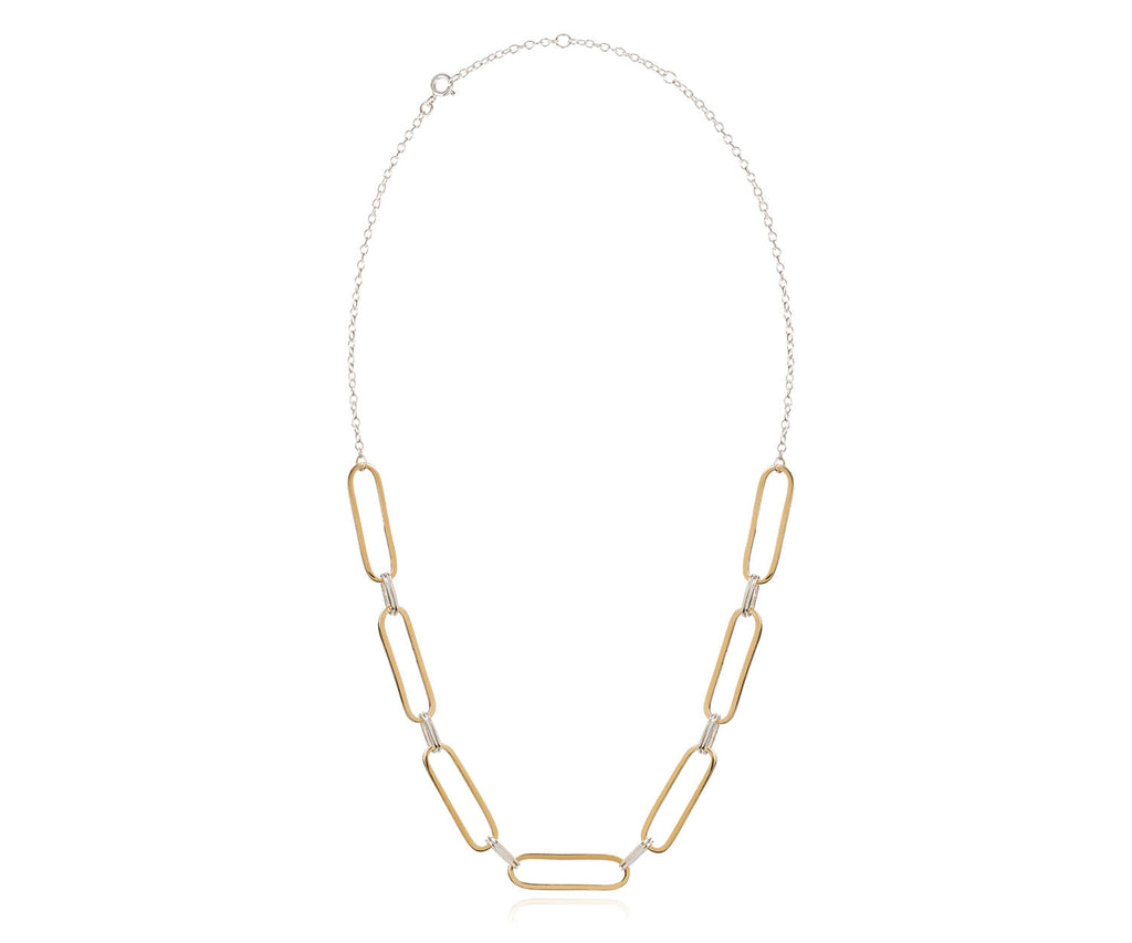 hover loose link choker mixed silver gold necklace Maya Magal jewellery LondonLoose link choker necklace maya magal the outnet luxury brand uk london jewellery mixed silver gold metals