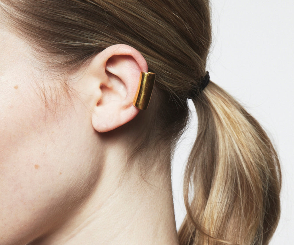 hover long ear cuff earring gold Maya Magal jewellery London