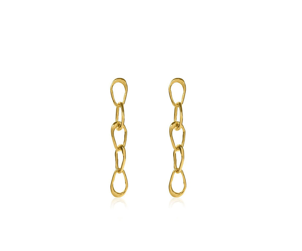 Organic Drop Chain-Link Earrings