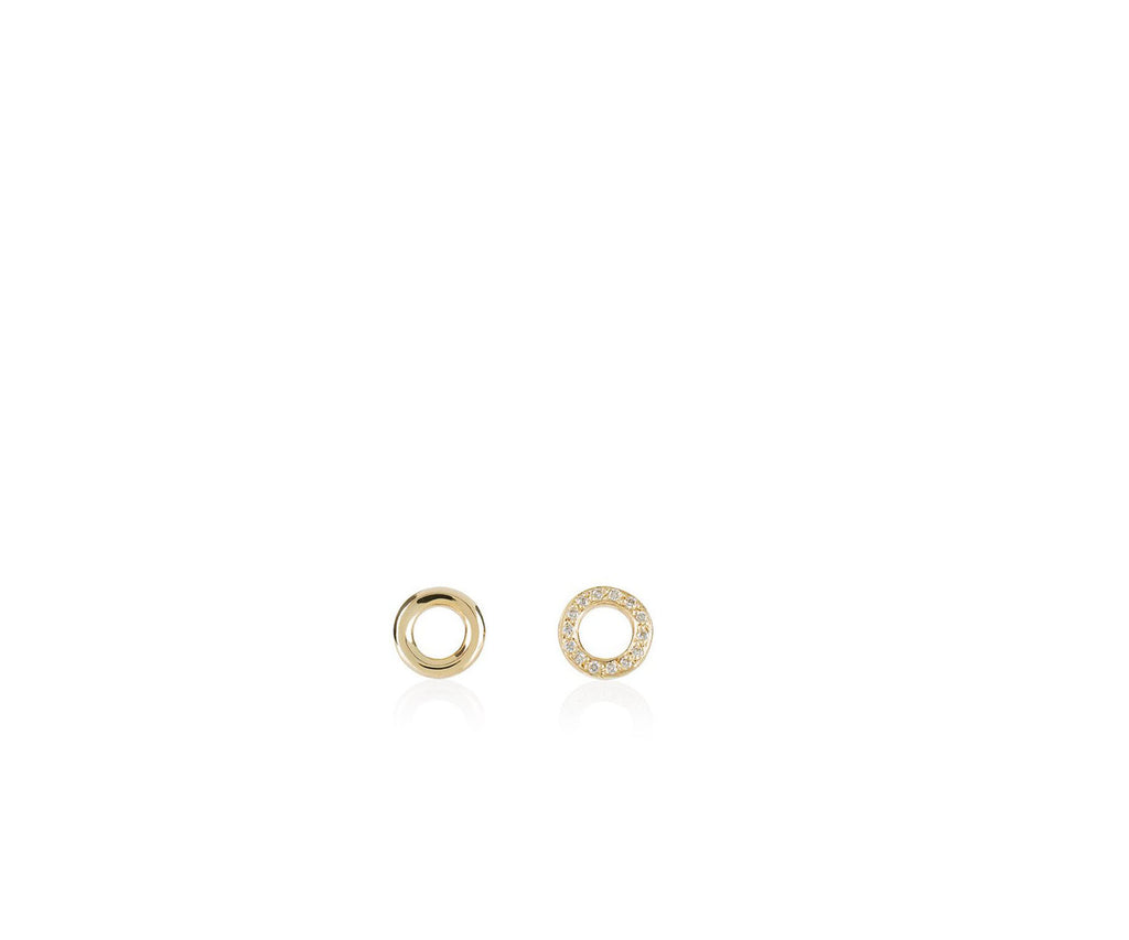 Solid Gold O Studs