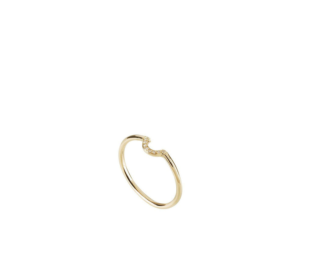 Solid Gold U Ring