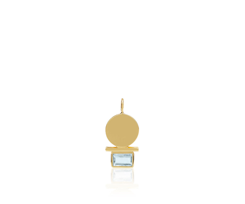 aquamarine birthstone gem luxury jewellery silver gold necklace London Maya Magal