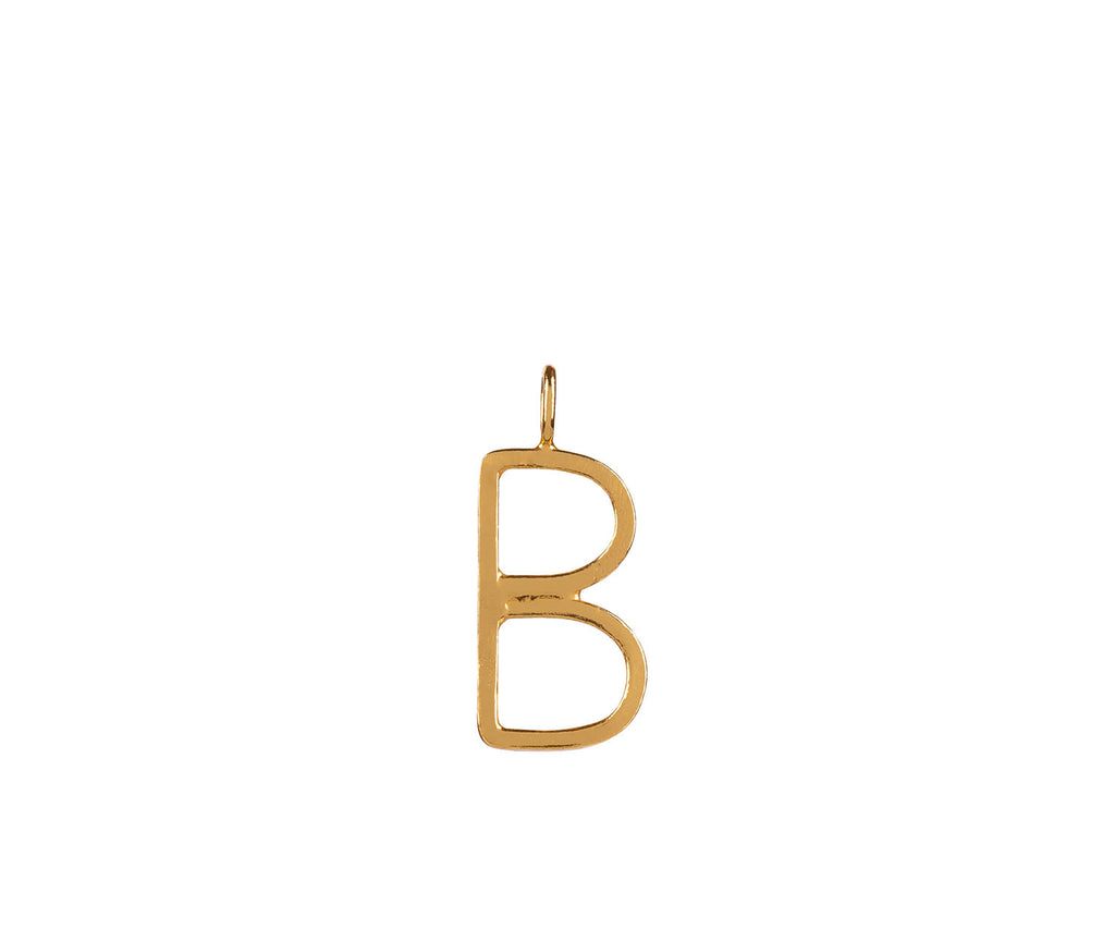 alphabet initial charm pendant gold maya magal luxury jewellery brand sterling silver 9ct gold plate