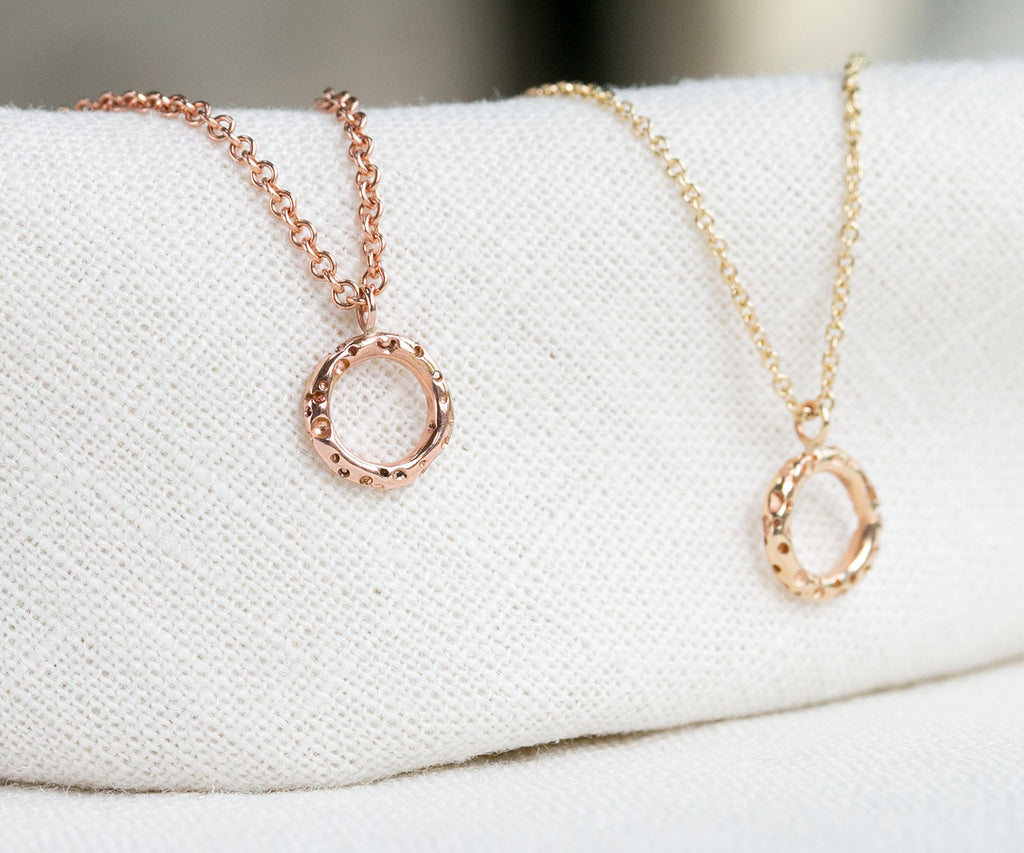Solid Gold Bubble Necklace