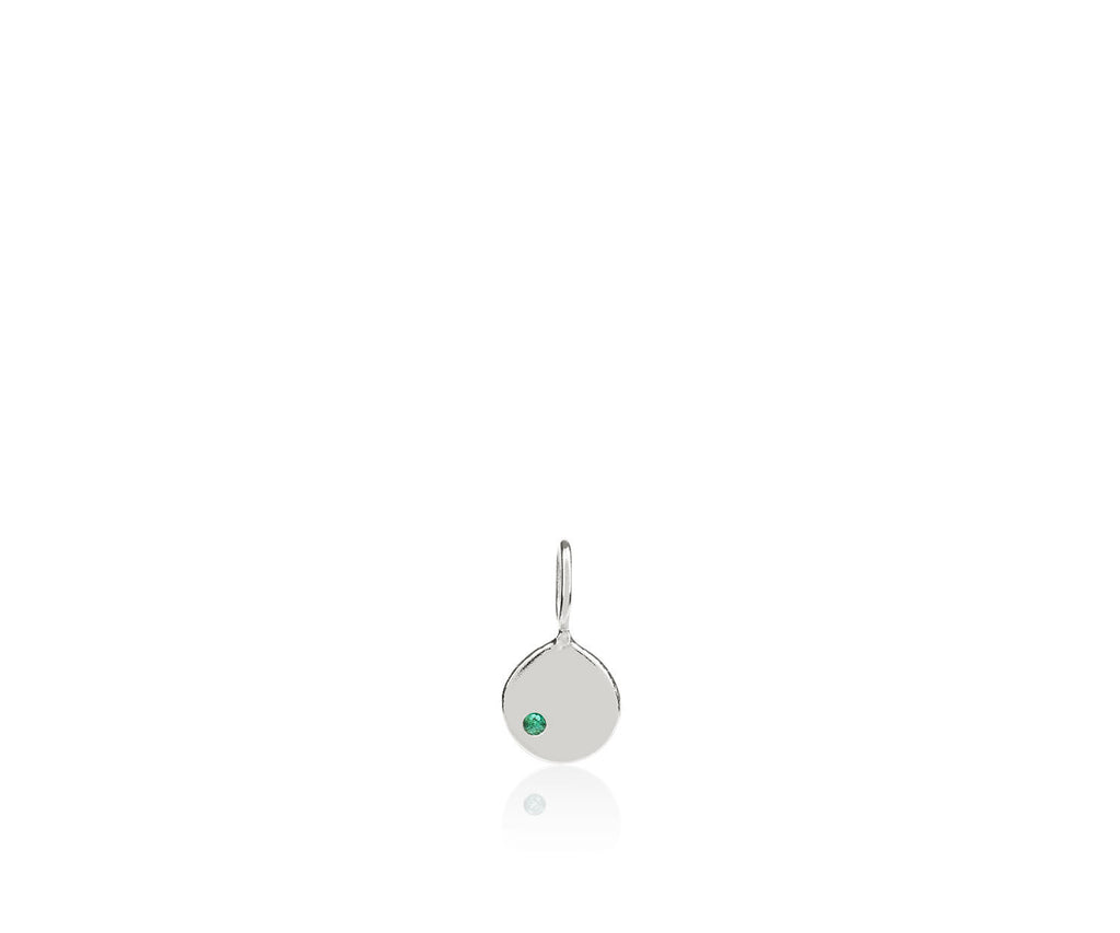 Emerald / May Disc Charm