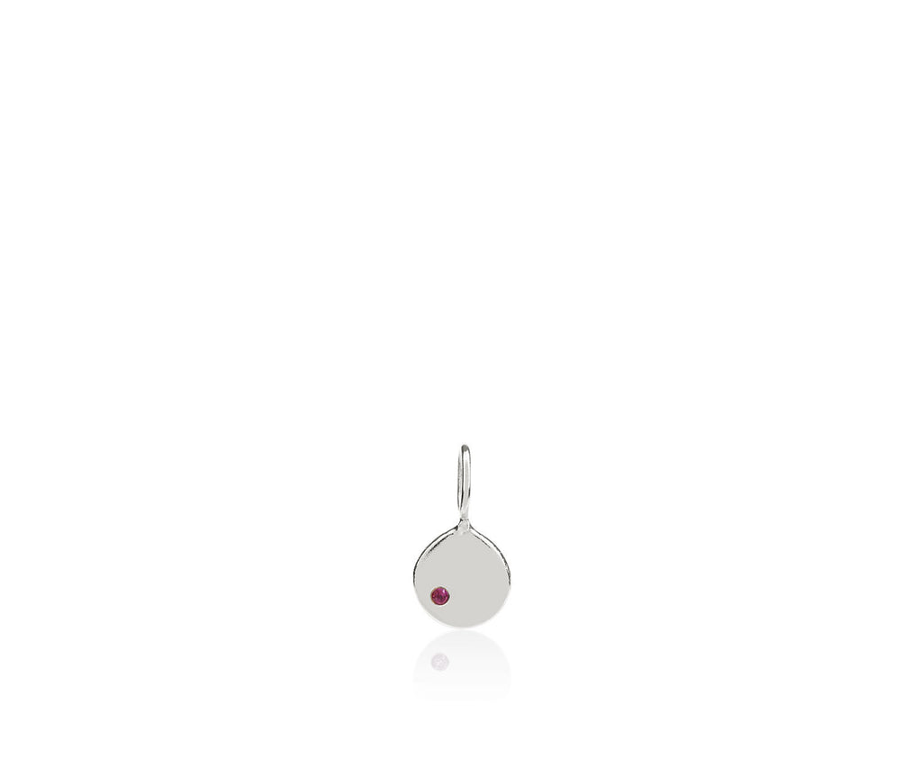 ruby birthstone charm gem stones luxury jewellery silver gold necklace gift Maya Magal London