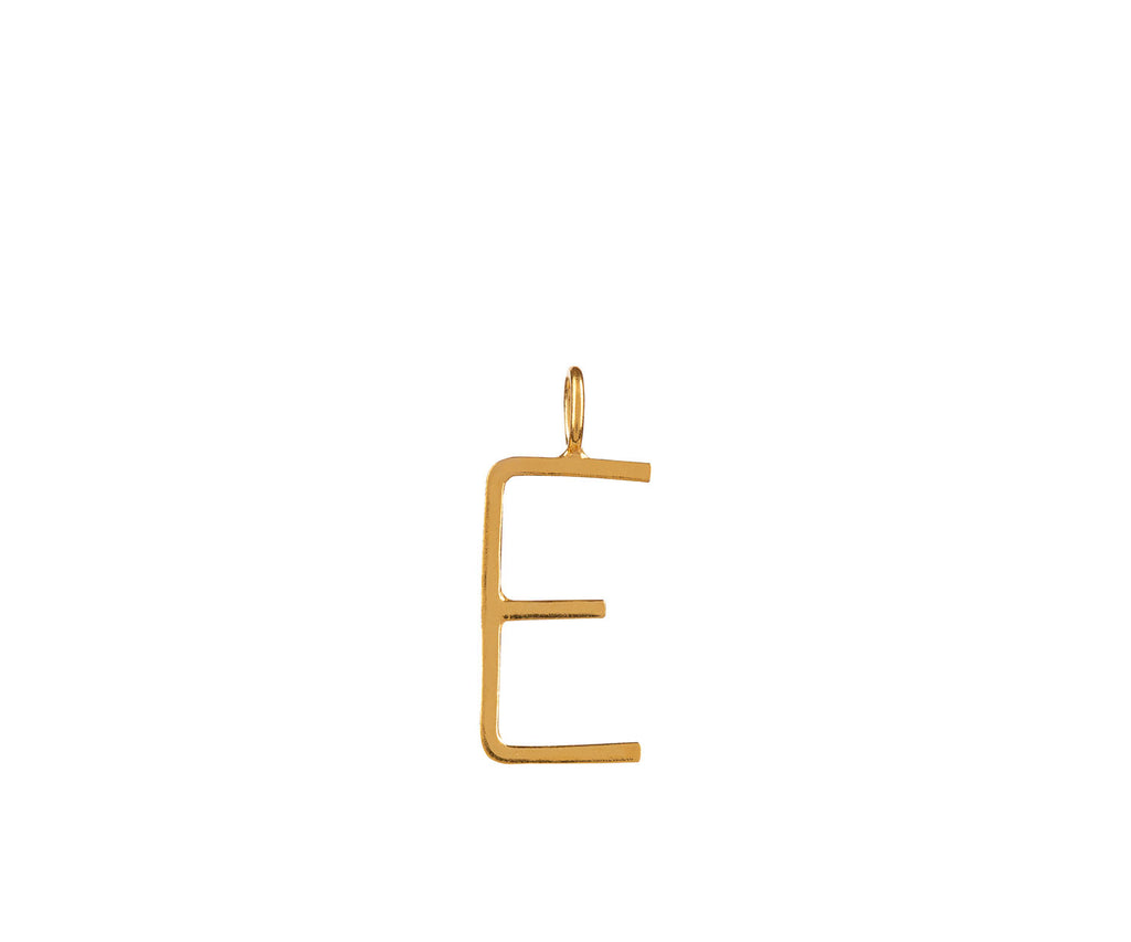 Outline Alphabet Charm Gold