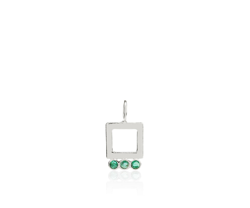 emerald birthstone gem stones jewellery necklace charm luxury Maya Magal London