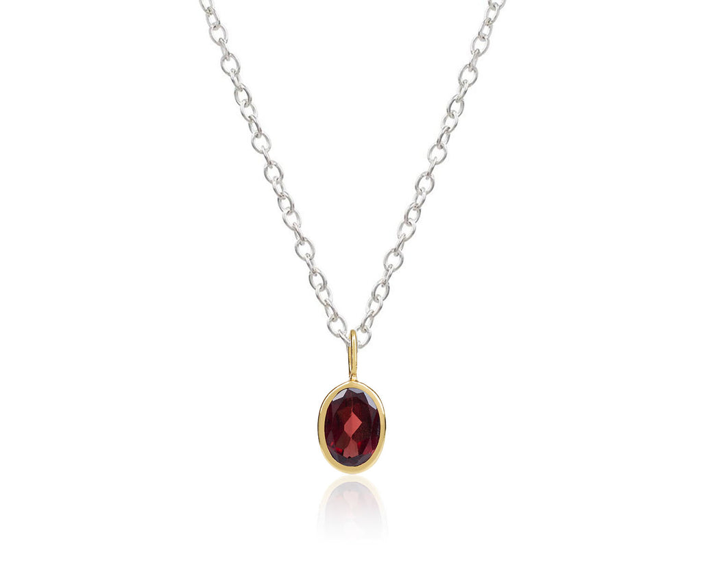 january birthstone charm garnet pendant maya magal luxury jewellery brand london uk