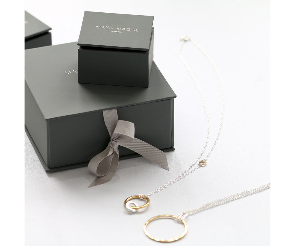 luxury packaging jewellery silver gold Maya Magal London