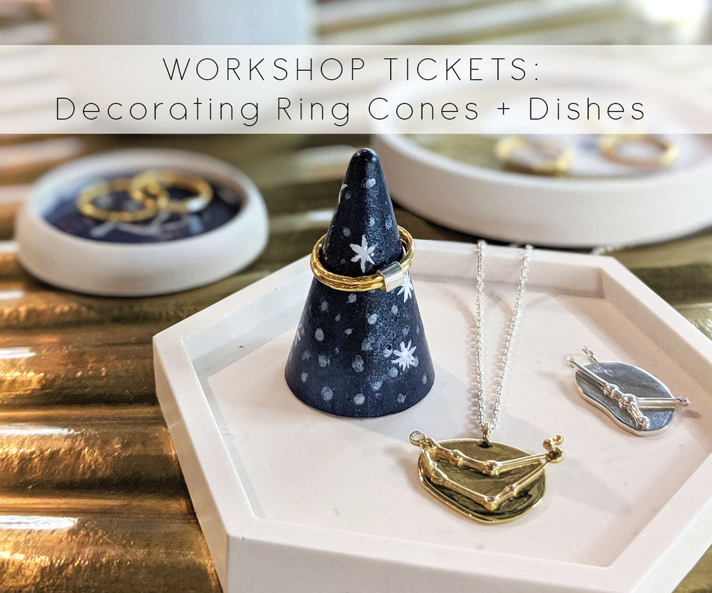 TICKETS: Ring Cone + Jewellery Tray Decorating