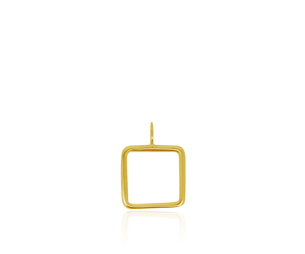 square outline charm jewellery design luxury silver gold necklace layer gift Maya Magal London