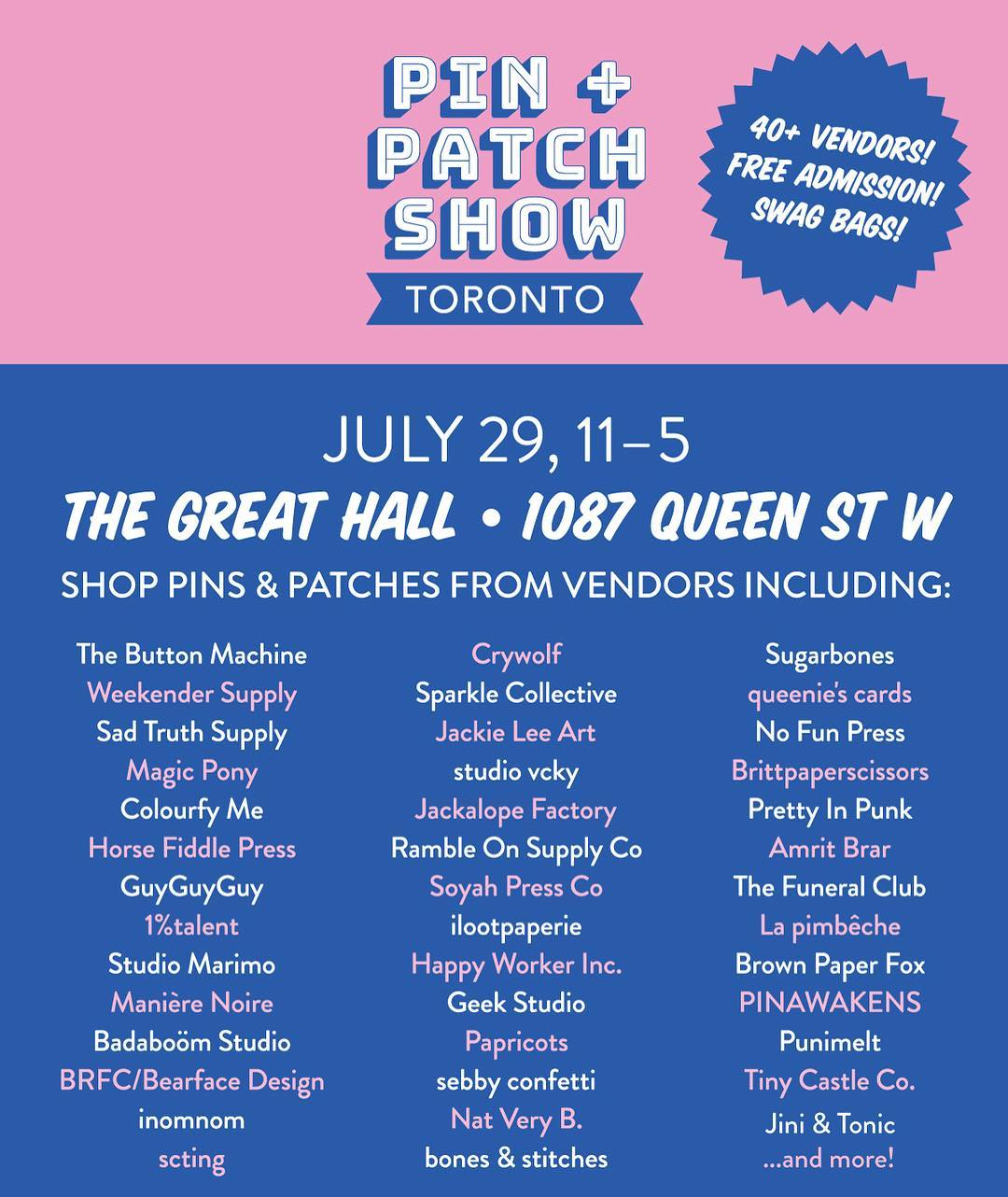 The Toronto Pin and Patch Show