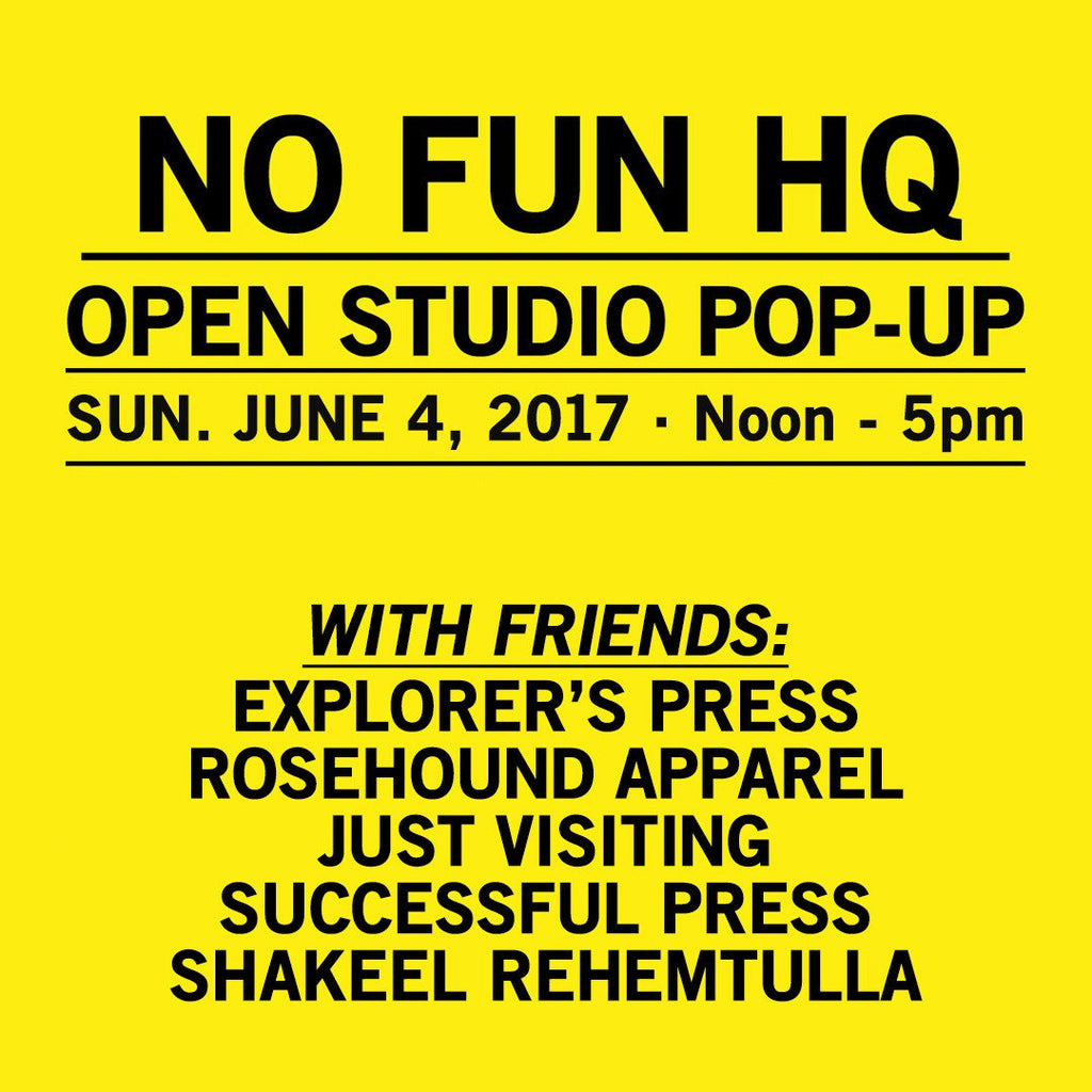 Open-Studio Pop-up June 4, 2017