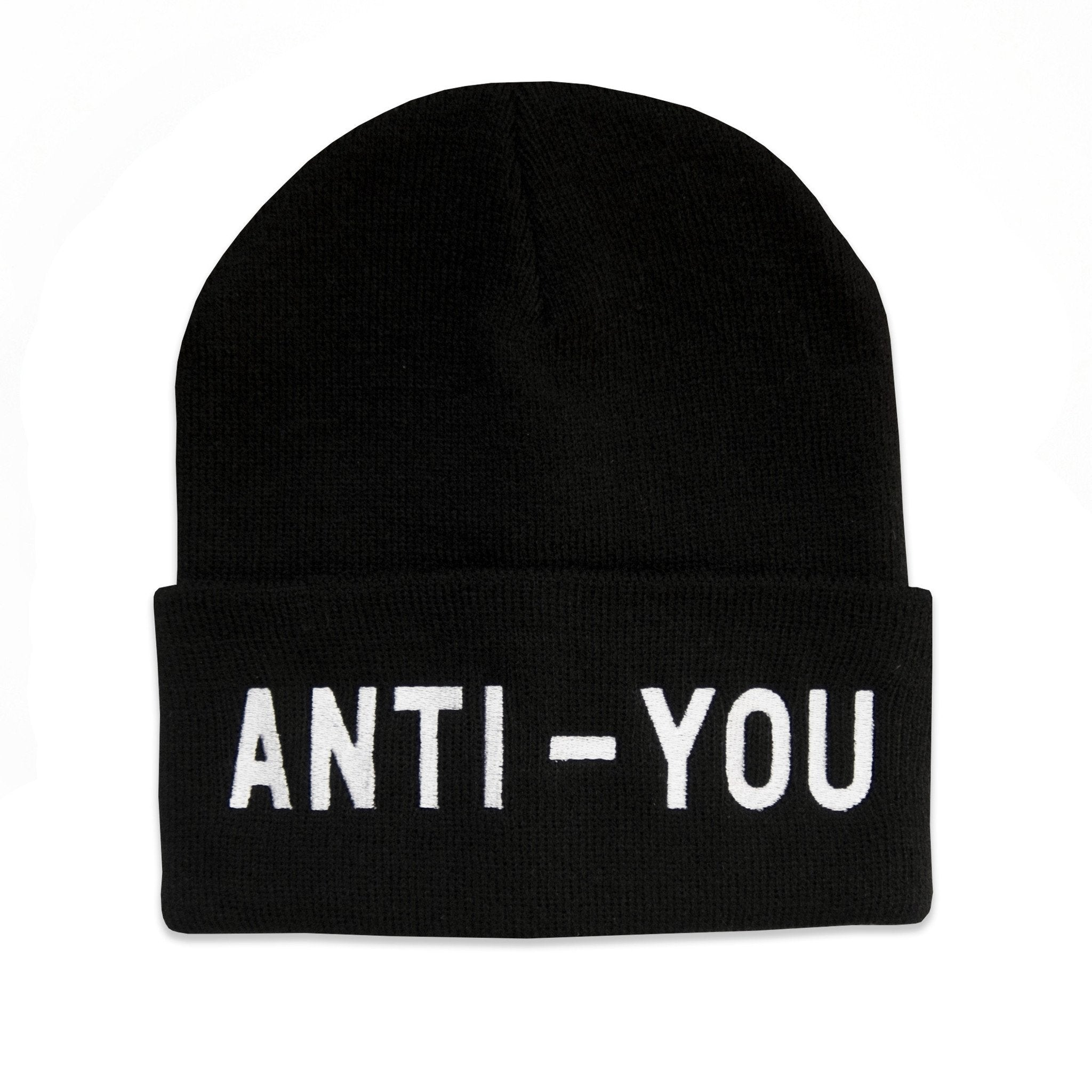 "No Fun Press - original ""Anti-You"" embroidered beanie toque"