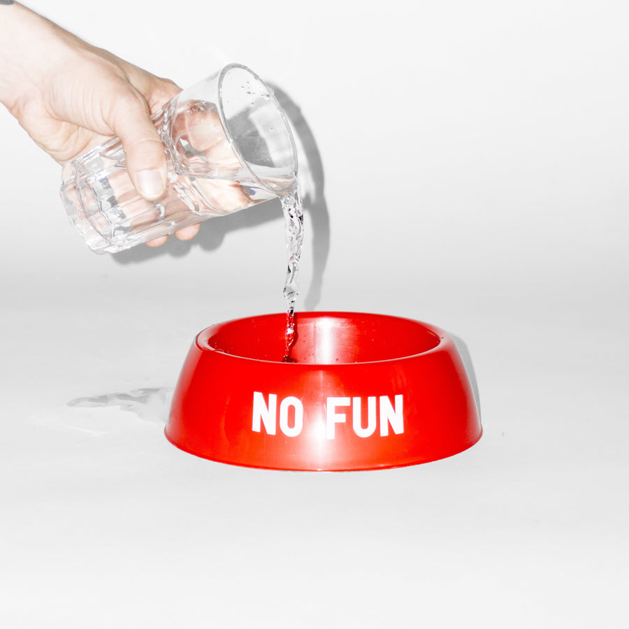 """No Fun"" Classic Bowl - Red Dog Bowl made in USA"