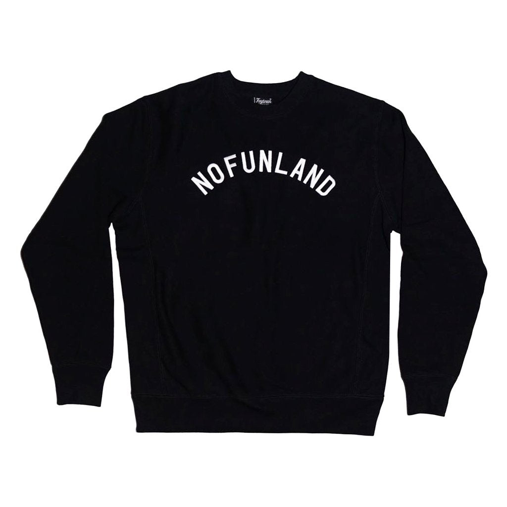 """Nofunland"" Embroidered Crewneck"