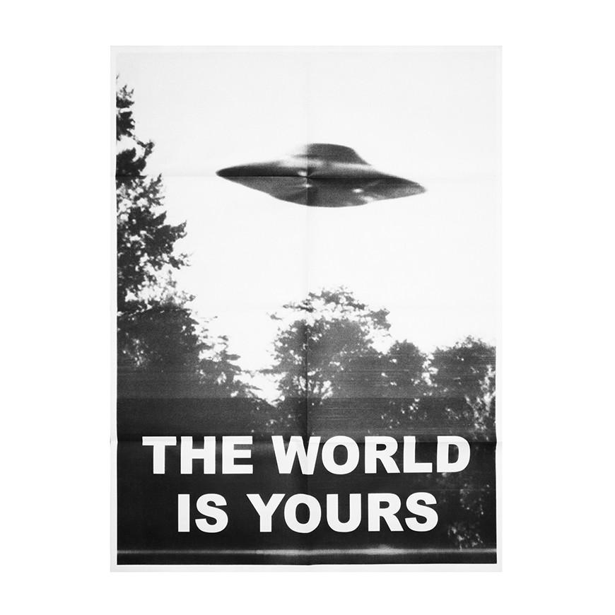 "No Fun Press - ""The World Is Yours"" ufo poster"