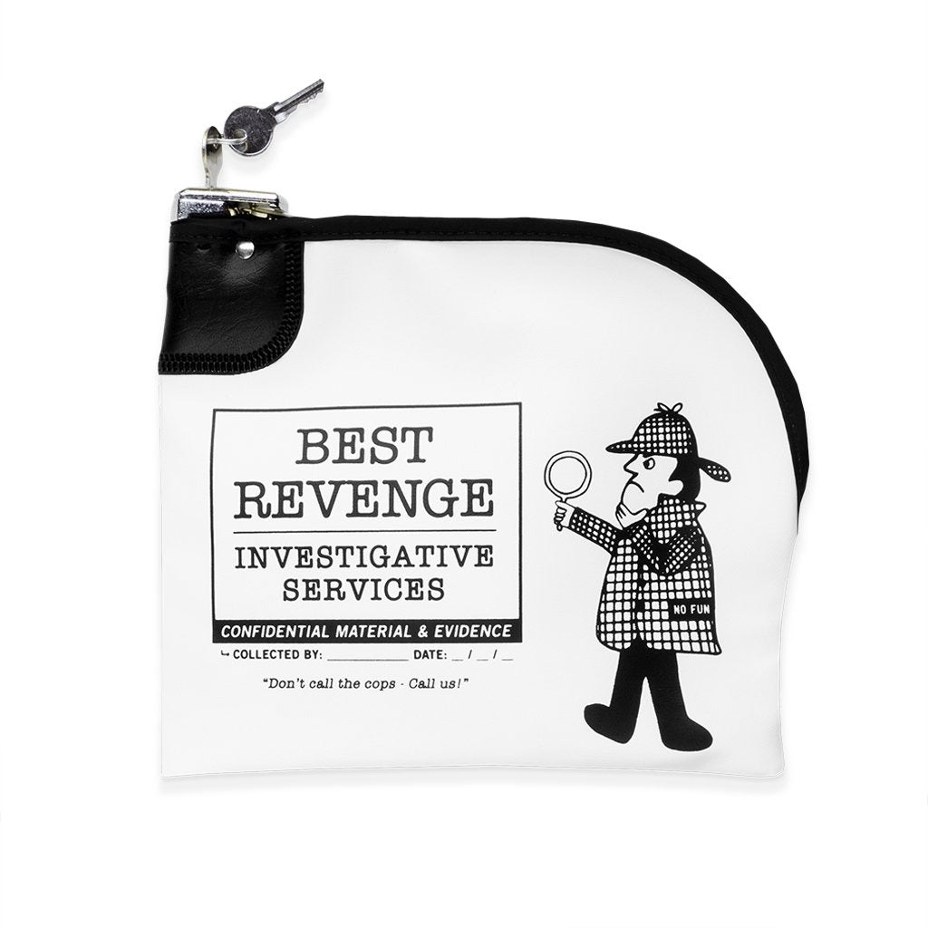 """Best Revenge"" Locking Evidence Bag by No Fun Press"