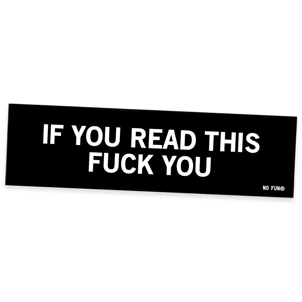 """Read More"" Bumper Sticker"