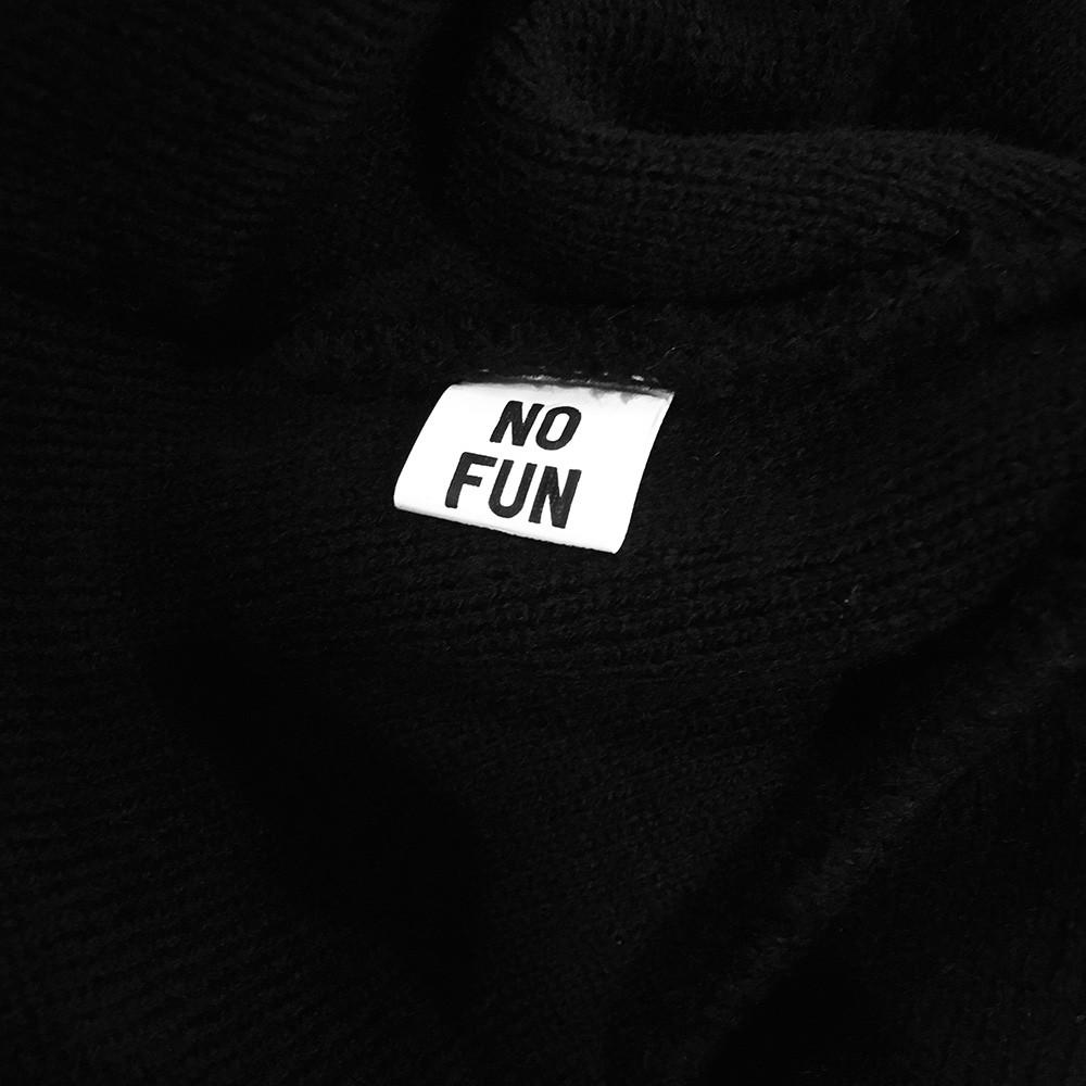 No Fun embroidered beanie