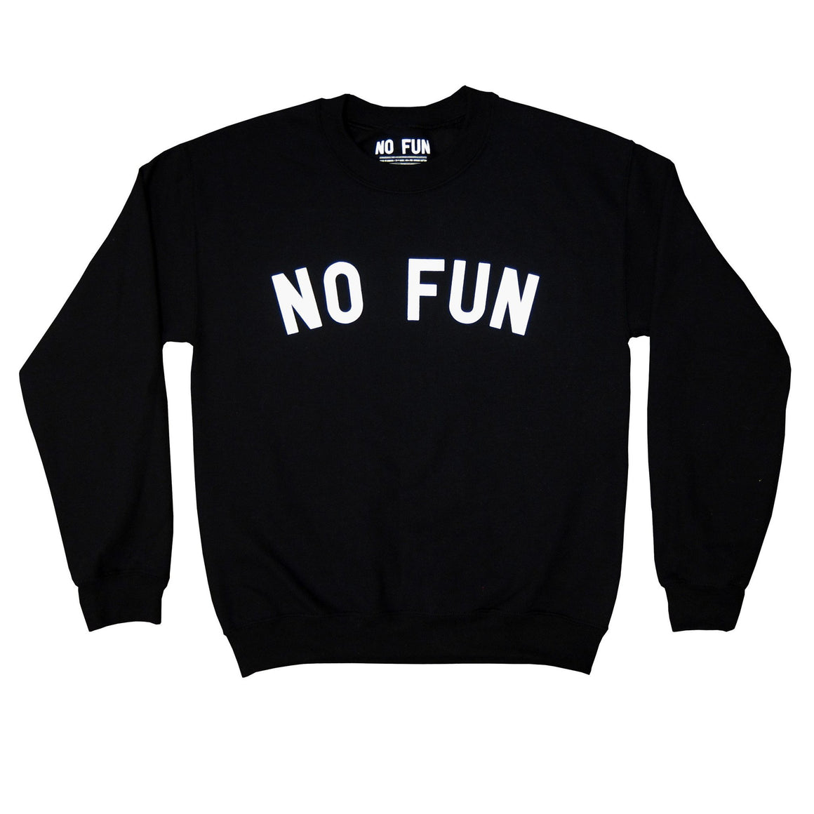 no fun crewneck sweater
