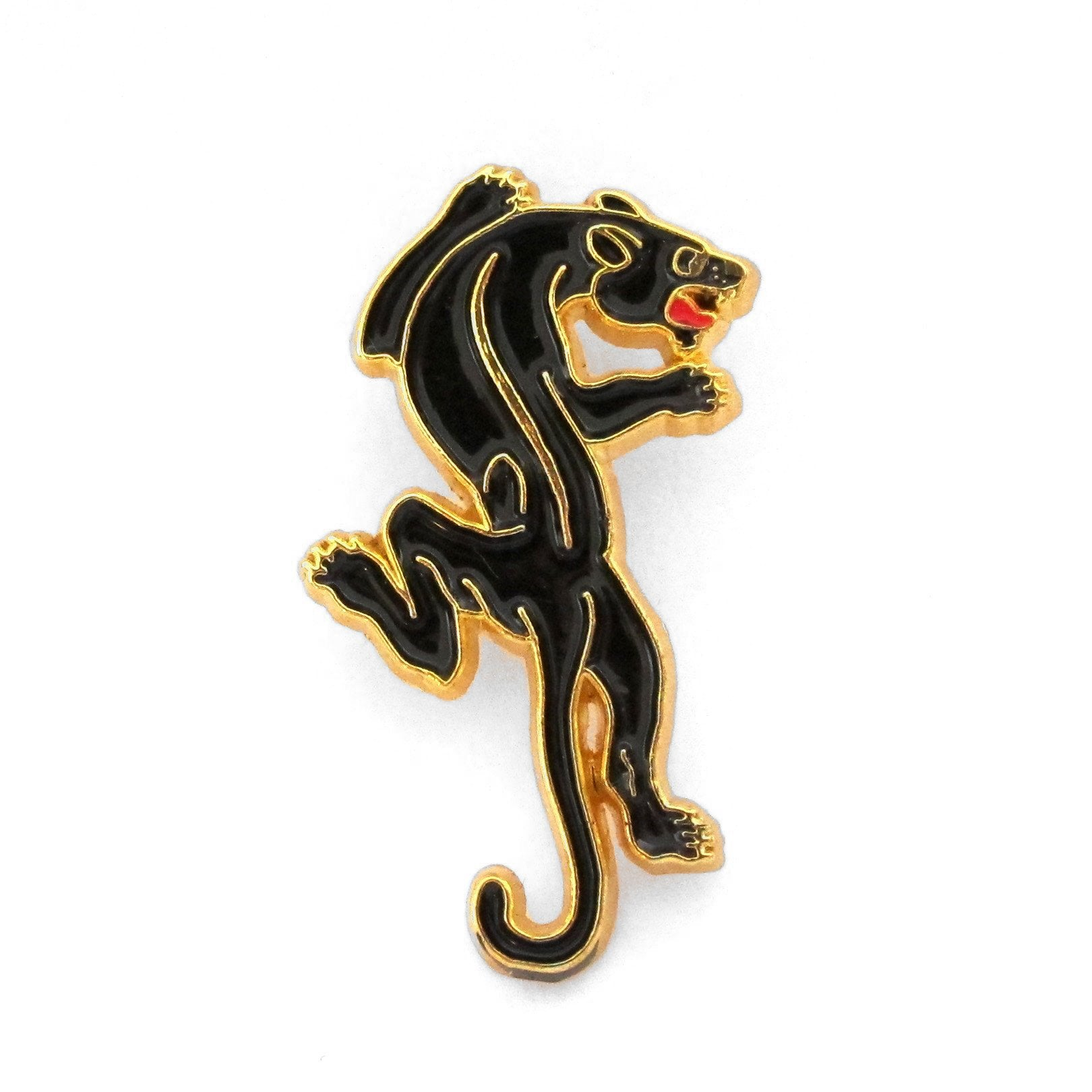 "No Fun Press ""Black Panther"" classic enamel lapel pin."