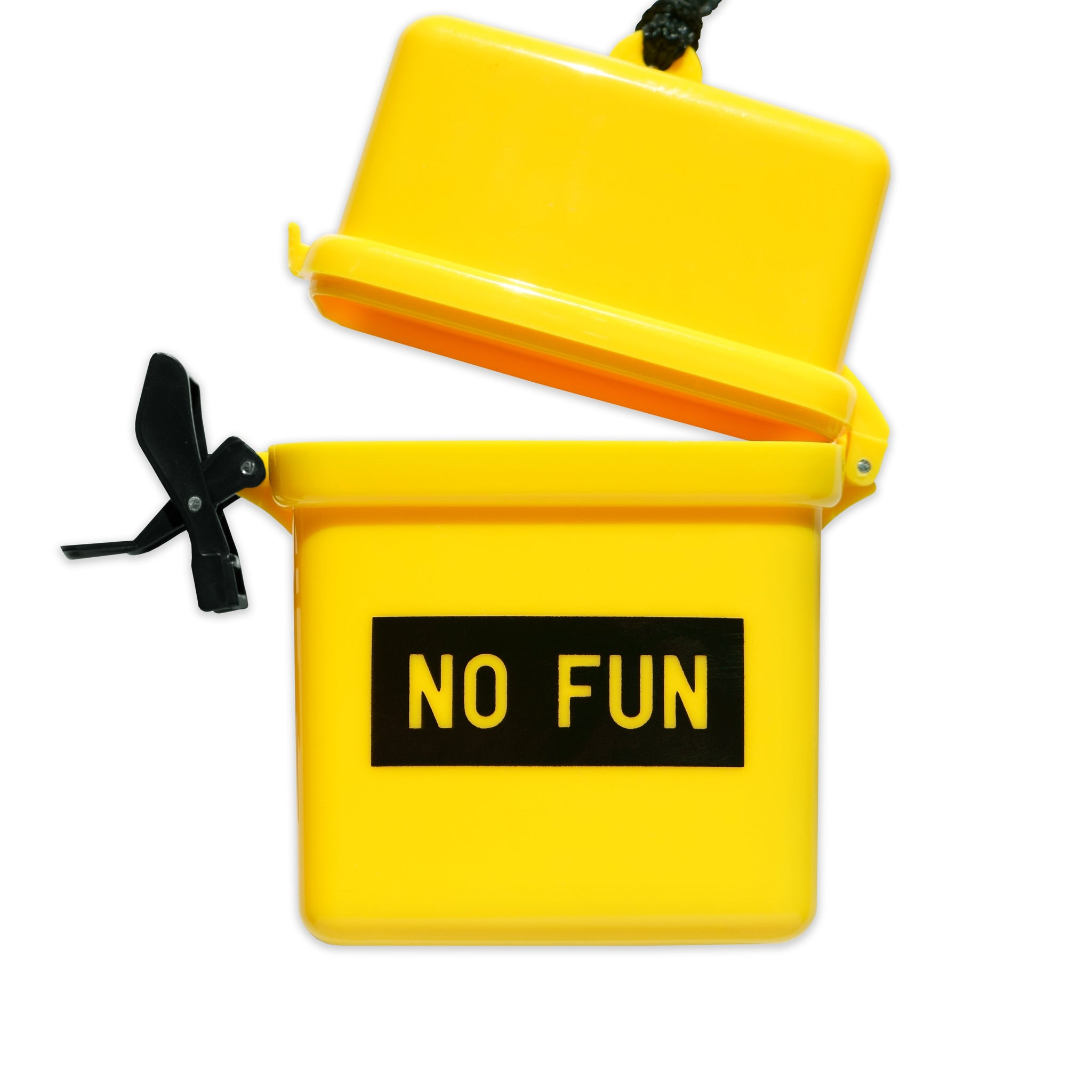 No Fun Press - Signature Waterproof Container - Yellow/ Open