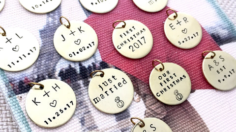first married christmas ornament personalized tags