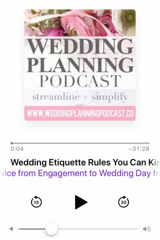wedding etiquette rules