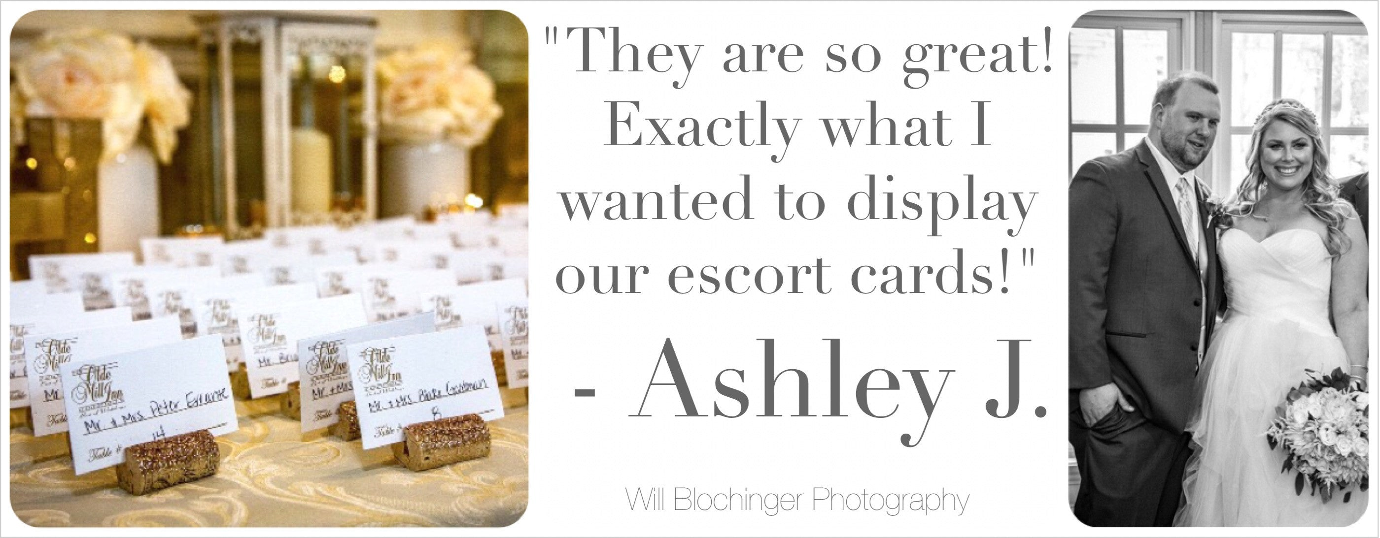 glitter wine cork place card holders