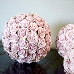 SAVE 30% Make Your Own Dusty Mauve Wedding Flower Ball | DIY Wedding Decorations