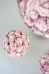 Make Your Own Dusty Mauve Wedding Flower Ball | DIY Wedding Decorations