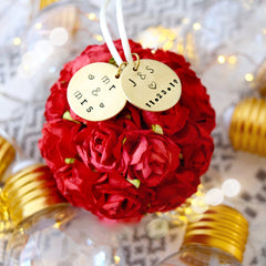 Personalized Wedding Gift | Flower Pomander First Married Christmas Ornament