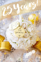 Personalized 25 Year Anniversary Christmas Ornament