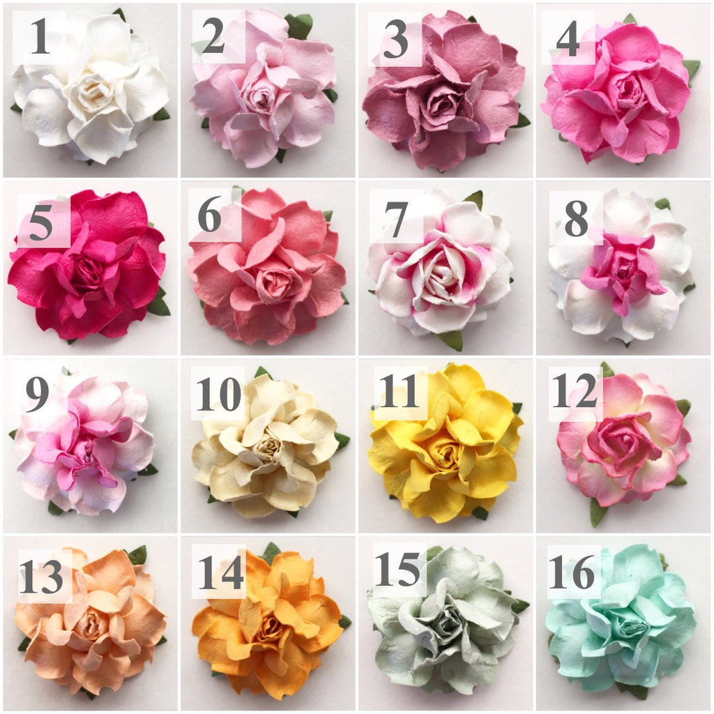 Paper Flowers In 22 Colors For Diy Wedding Projects Kara