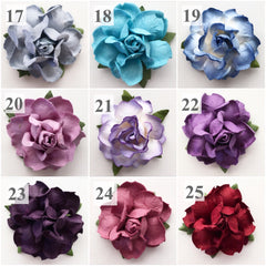 ON SALE 50 Colorful Succulent Paper Flowers